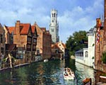 Bruges canals painting