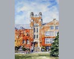 Clocktower, Geneseo University painting