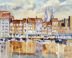 Painting of Ostend Marina