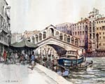 Venice - Rialto Bridge painting
