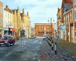 Painting of Wrexham High Street